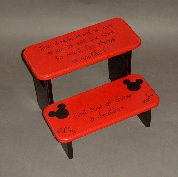 Items Similar To Mickey Mouse Step Stool With Little Stool
