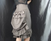 Soft Ruffled Pin-On Herringbone Bustle- many colors and sizes available