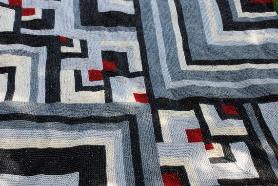 Pattern for Knitted patchwork blanket