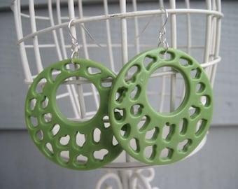 Seeing Green Circle Earrings