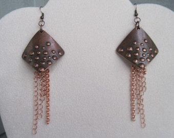 Copper Metal Earrings
