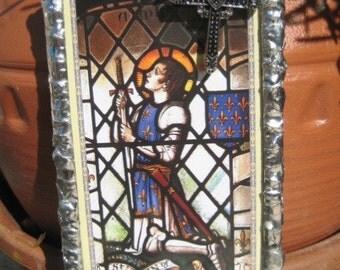 Novena to St Joan of Arc Devotional Wall Art Prayer Card