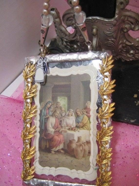 Unique Religious Wedding Gifts : Unique Religious Wedding Gift Recycled Stained Glass Wedding Blessing ...