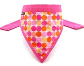 SALE DESIGNER FABRIC Dog Bandanna / XSmall - Can request for Small, Medium, Large - Candy Pops