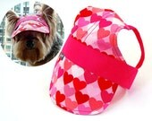 SALE DESIGNER FABRIC Doggie Hat Cap Visor / --- One last piece for Small --- Can request for Medium and Large size - Oh So Lovely