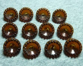 Vintage Rootbeer Gear Buttons-Set of 12