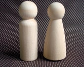 Unfinished Wood Doll Couples- Large DIY Wedding Cake Topper Bride and Groom