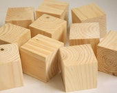 """Pack of 12 (One Dozen) Unfinished Recycled Wood 1 1/2"""" Square Blocks- DIY, Decoupage, Crafting"""