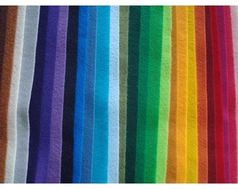 Pick Your Own Colors- 20 sheets of 9 x 12 Eco-Friendly Felt made from Recycled Bottles