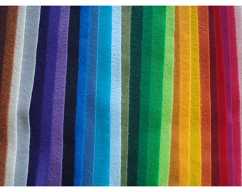 Pick Your Own Colors- 10 sheets of 9 x 12 Eco-Friendly Felt made from Recycled Bottles