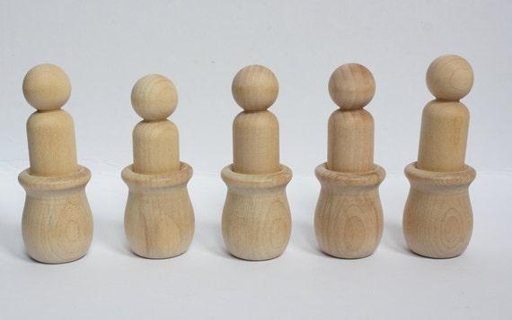 Montessori Inspired DIY Color Assembling Activity-  Waldorf Peg Doll Educational Game