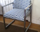 RESERVED Modern Chrome Chair / Selke Links /PRICE REDUCED
