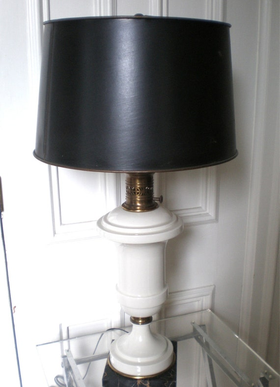 Pair Regency Urn Table Lamps /Ceramic with Marble Base