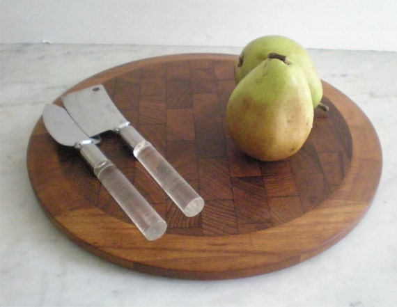 Dansk JHQ Circular Cheese Board and Knives / SALE