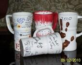 Custom Personalized Ceramic Travel Mug with Lid great Christmas Gift