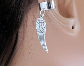 Silver Angel Wing Ear Cuff