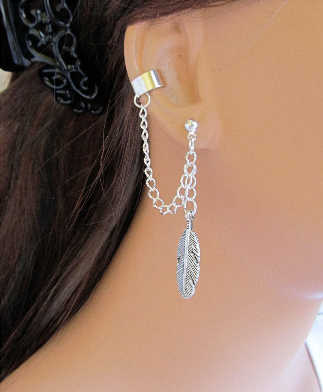 Cartilage Chain Earring Etsy Chain Ear Cuff Wrap Cartilage