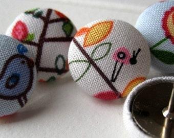 Pushpins,6 Push Pins,Thumbtacks,Thumb Tacks,Blue,White,Pink,Decorative Pushpins,Birds,Lady Bugs,Gifts,Teacher,Bulletin Board,Birds,Flowers
