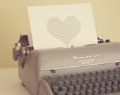 XOXO photograph, vintage typewriter, heart, yellow, gray, home decor, childrens wall art, love