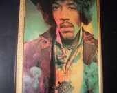 Jimi Hendrix- Custom Oversized Poster w/ Victorian Framing