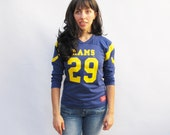 Vintage 80s Los Angeles Rams Football Shirt size YOUTH XL
