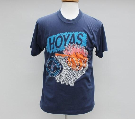 80s Vintage Georgetown Hoyas T-Shirt - LARGE