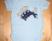 RESERVED FOR TAYLOR82 Light Blue Paisley Fish Onesie