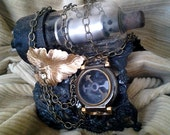 Raw Brass Eletctrik Sparker Cuff steampunk accessory