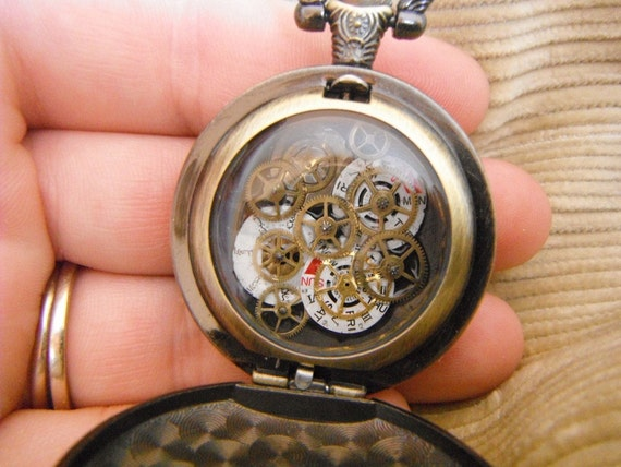 Geared Chronostabilizer, steam punk pocket watch device