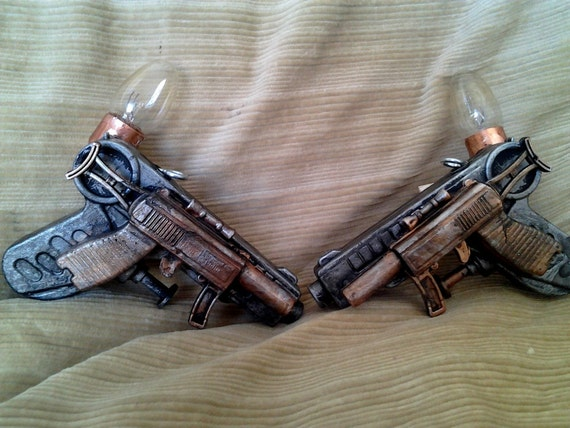 Double Electrik Pistol, steam punk gun