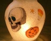 Pumpkin/Skull Globe Candle Holder