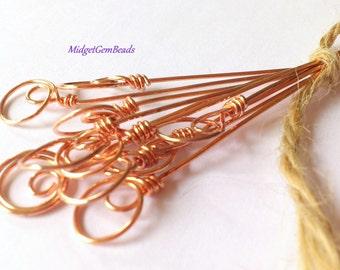 Balloons - Handmade  Headpins -  (10)