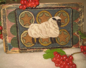 Prize Sheep Punch Needle Pattern and Color Plan