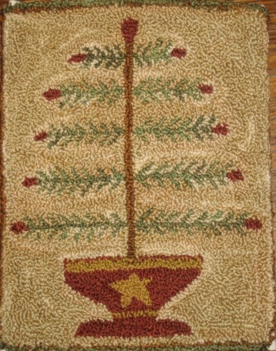 Old Feather Tree Punch Needle Pattern