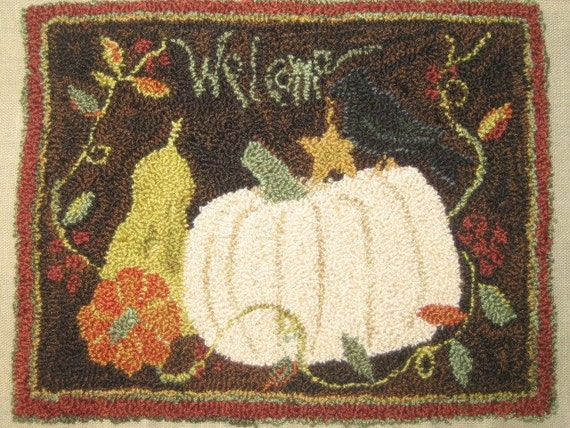 Welcome Autumn-Punch Needle Pattern