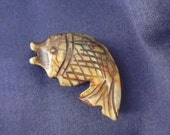 Carved Stone Fish Pendant