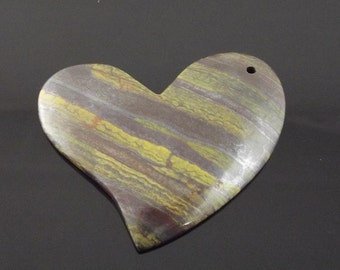 Tigers Eye Heart Bead or Pendant