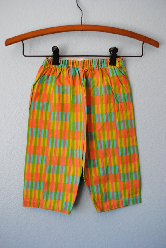 vintage baby girl colorful pants