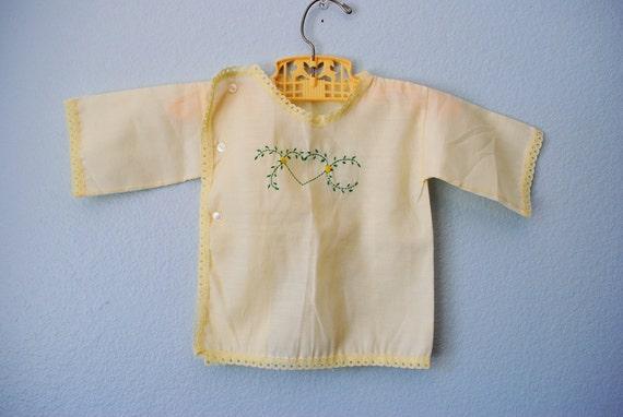 vintage baby hand embroidered kimono top