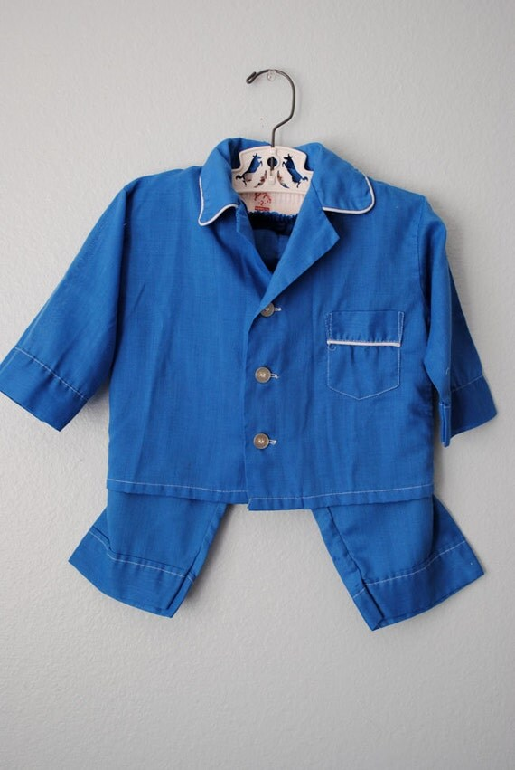 Vintage Boys Blue Pajamas By 3ringcircus On Etsy