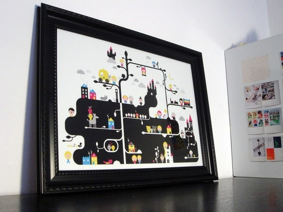 Fairytales illustration - fine art print (giclée) - Title: 'Good Always Wins'