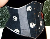 "Nightmare Before Christmas underbust corset by Jupiter Moon 3, 32"" waist"