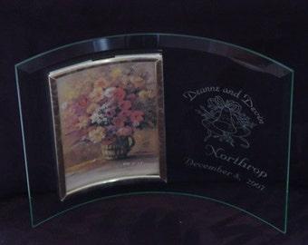Glass wedding frame