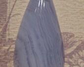 Blue Lace Agate cab ........  49 x 22 x 7mm thick  .... (BLp49227)