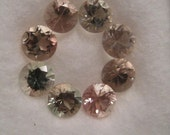 Oregon Sunstone faceted stones ....  8 pieces 4mm rounds.......     (OSSf4mm -8pcs-h8