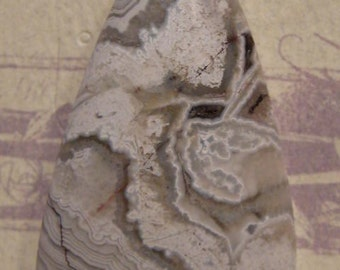 Mexican Crazy Lace pendant bead...........  46 x 29 x 8 mm  ...........       CLA1974