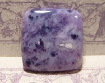 Mexican Purple Opal cab ....   19  x 19  x  4mm .........    2826