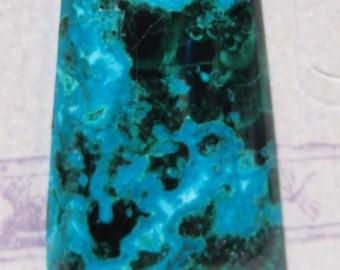 Malachite and Chrysocolla in Quartz cab   ...  32 x 20 x 5mm thick  ...       4003