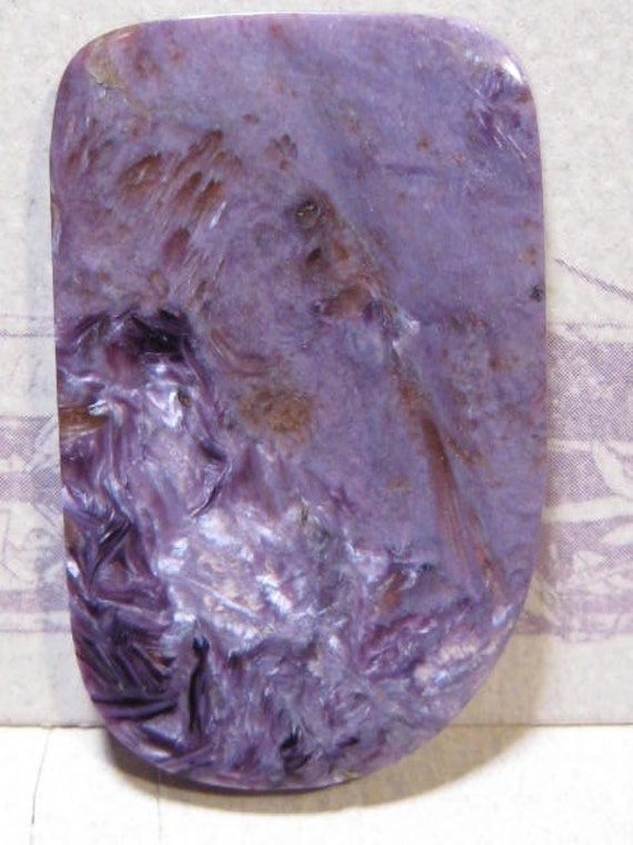 Charoite cab ...     BIG cab ....          48   x  30 x 5 mm thick ......     4132