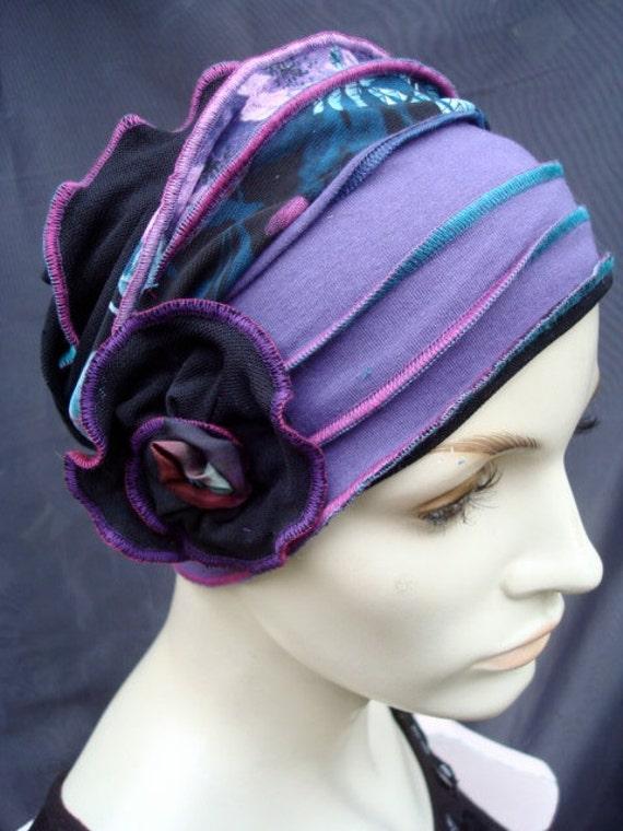 Gypsy Love Flower  Headband ladies adult neckwarmer headwear chemo